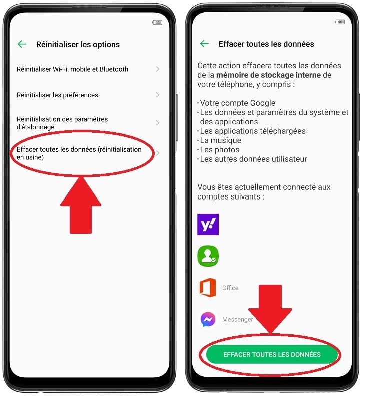 Reinitialiser son smartphone android