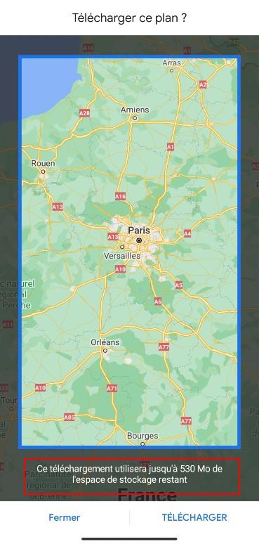 google maps hors ligne 2