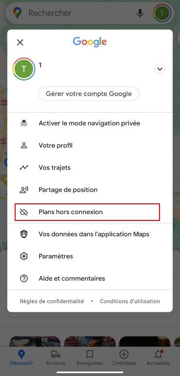 google maps hors ligne