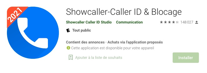 showcaller application android